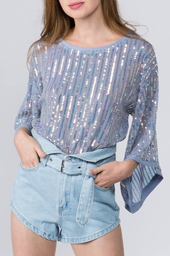 On Twelfth Sequin Mesh Blouse - Product List Image