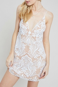 Pretty Little Things Sequin Mesh Dress - Product List Image