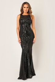Wow Couture Sequin Mesh Maxi - Product Mini Image