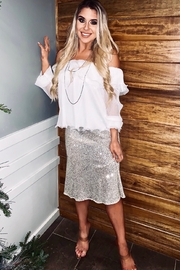 Audrey 3+1 Sequin Midi Skirt - Product Mini Image