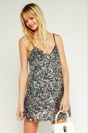 Olivaceous  Sequin Mini Dress - Front cropped