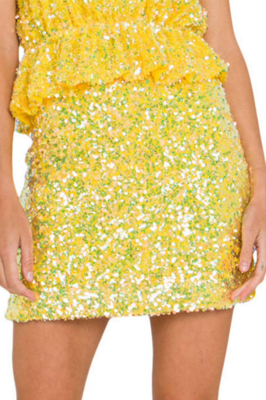 Endless Rose Sequin Mini Skirt - Front Cropped Image