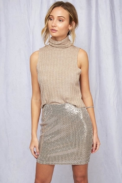 Peach Love California Sequin Mini Skirt - Product List Image