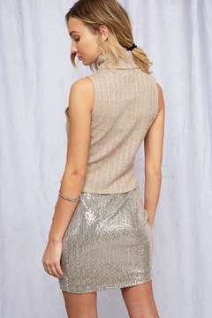 Peach Love California Sequin Mini Skirt - Alternate List Image