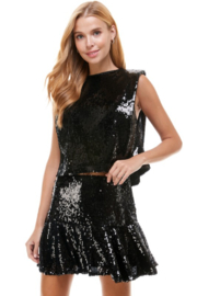 TCEC Sequin Muscle Top - Product Mini Image