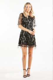 Very J Sequin Party Dress - Back cropped