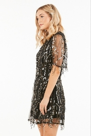 Very J Sequin Party Dress - Front full body