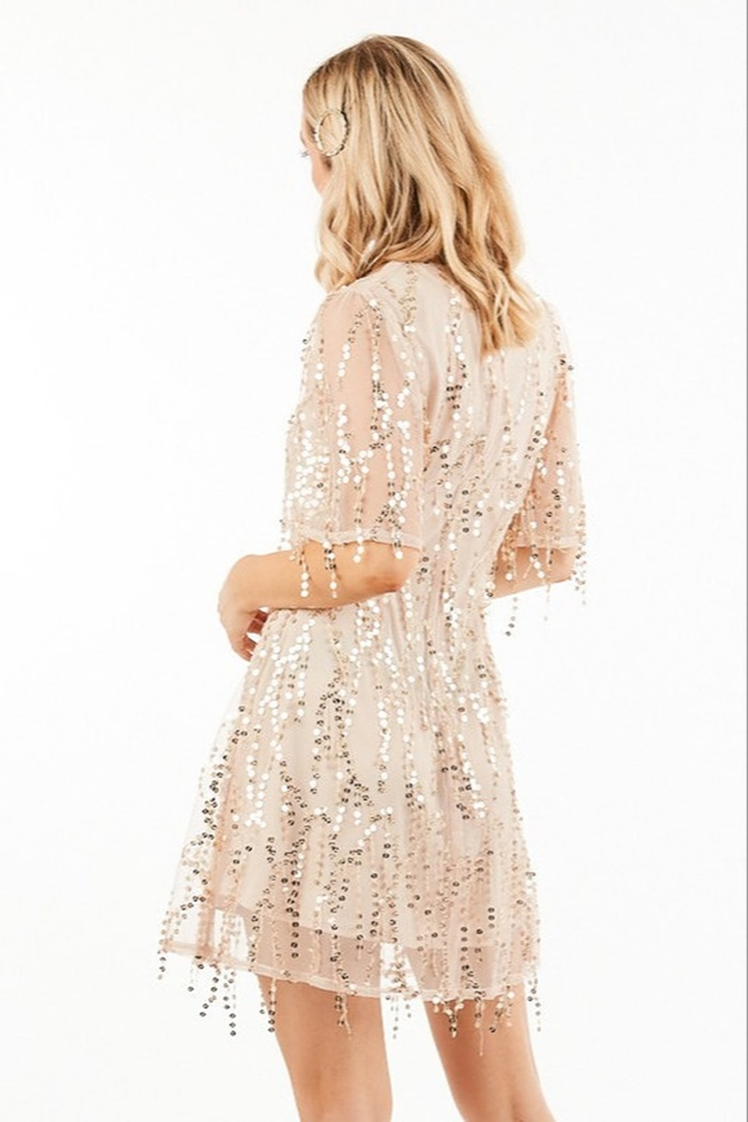 Very J Sequin Party Dress - Side Cropped Image