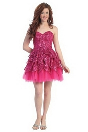 Cindy Collection Sequin Party Dress - Product Mini Image