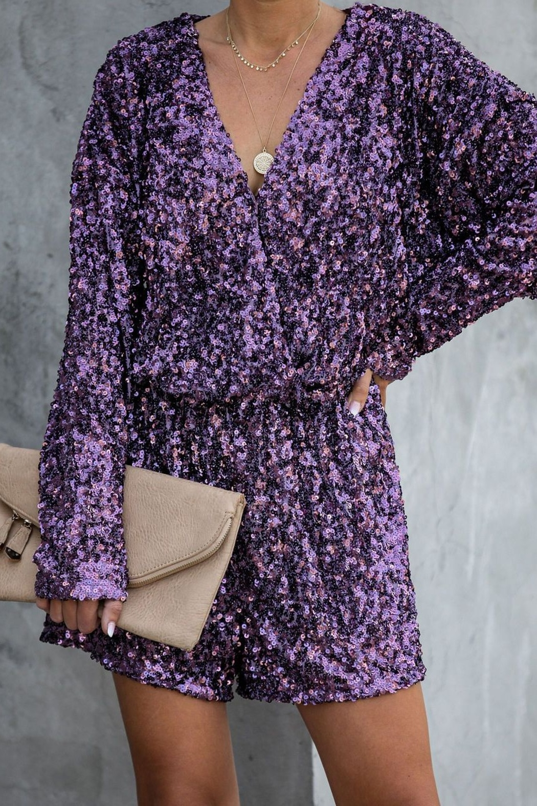 Endless Rose Sequin Party Romper - Main Image