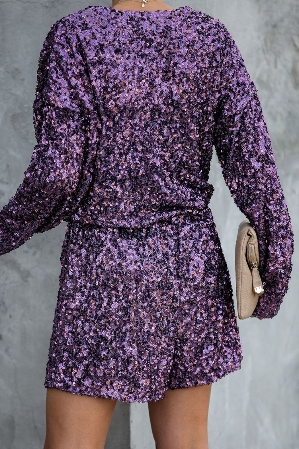 Endless Rose Sequin Party Romper - Front Full Image
