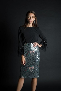 Shoptiques Product: Sequin Pencil Skirt