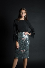 BEULAH STYLE Sequin Pencil Skirt - Product Mini Image