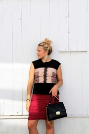 Nicole Miller Sequin Peplum Top - Product Mini Image