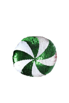 DEI SEQUIN PEPPERMINT PILLOW - Product List Image