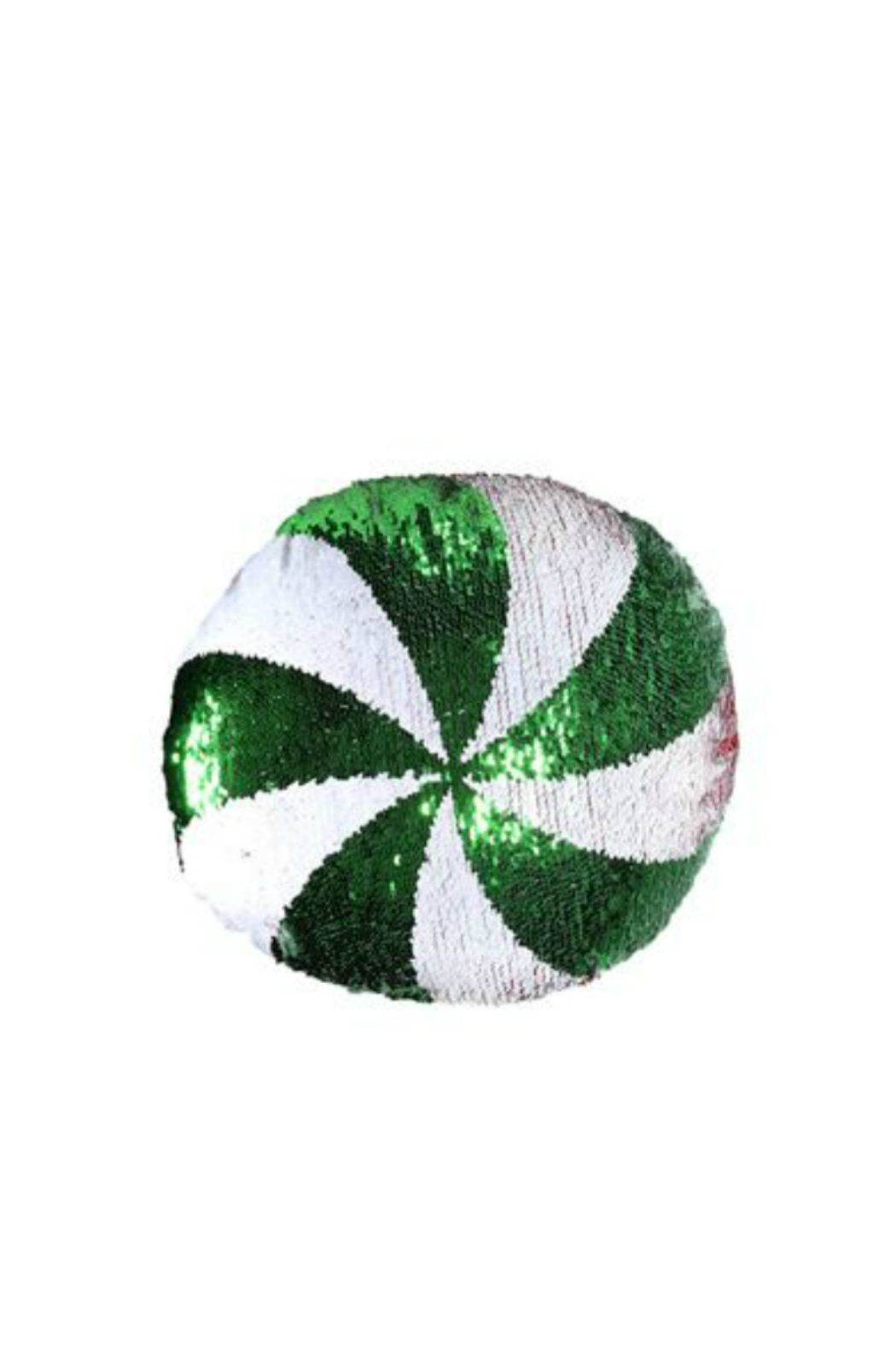 DEI SEQUIN PEPPERMINT PILLOW - Front Cropped Image