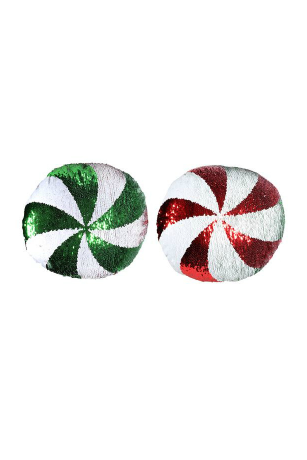 DEI SEQUIN PEPPERMINT PILLOW - Front Full Image