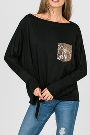 Cezanne Sequin Pocket Top - Product Mini Image