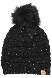 david and young Sequin Pom/pom Beanie - Product Mini Image