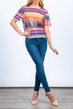 Hesperus Sequin Rainbow Top - Product List Image