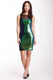 Nicole Miller Sequin Scale Dress - Front cropped