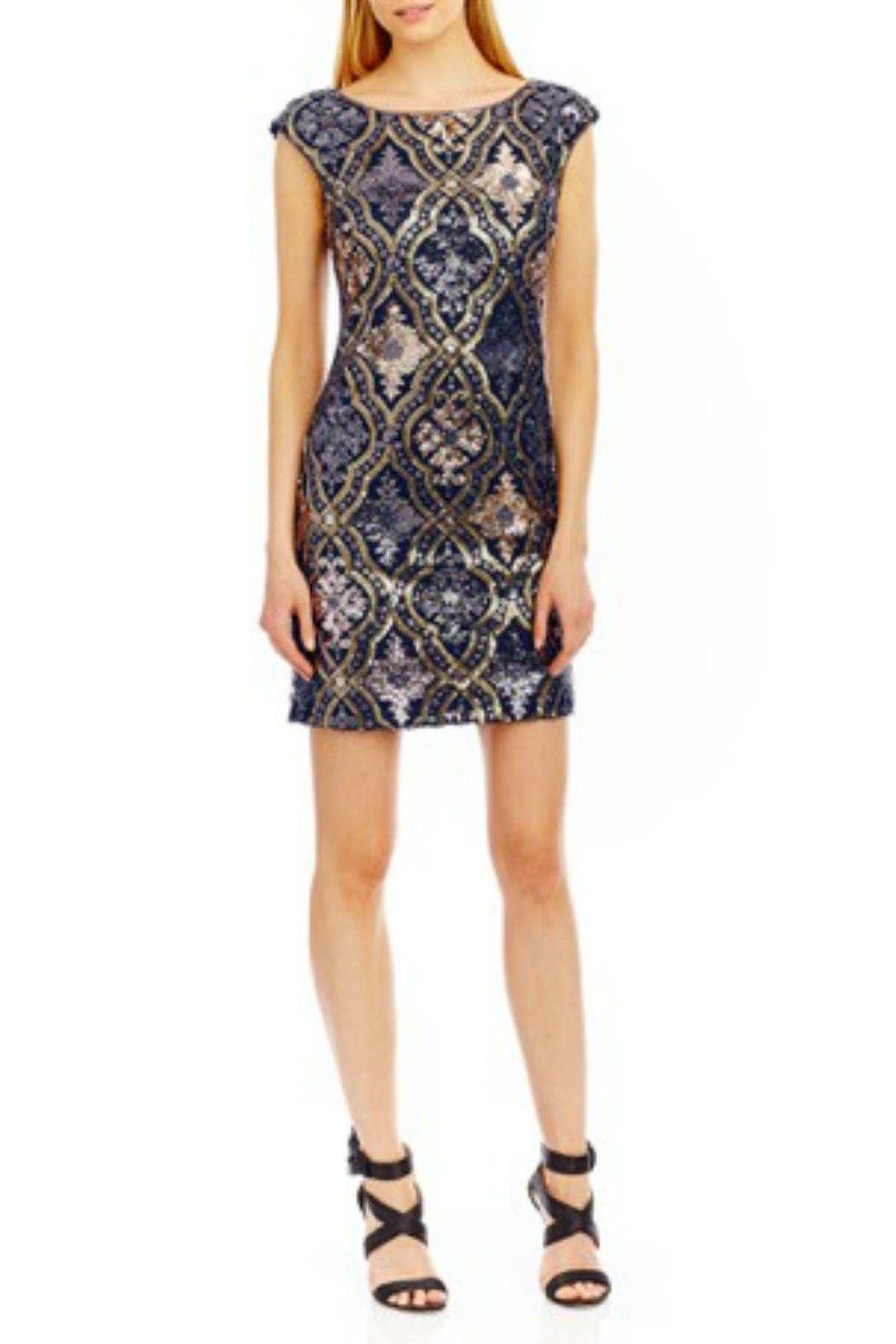 Nicole Miller Sequin Sheath Dress - Front Cropped Image