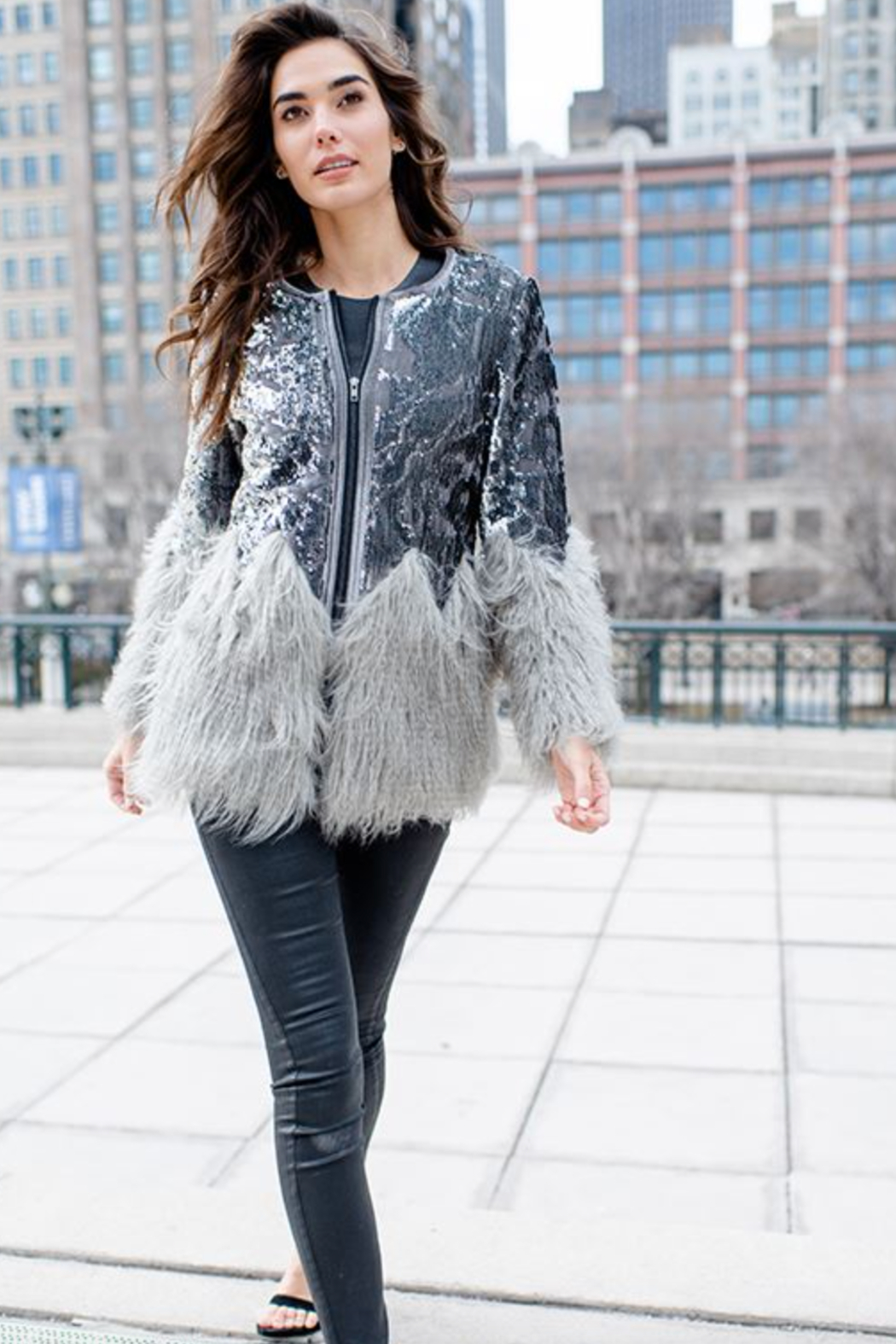 Fabulous Furs Sequin Shimmer Jacket - Main Image