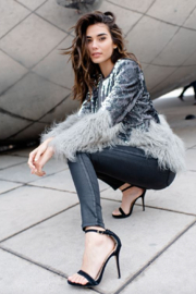 Fabulous Furs Sequin Shimmer Jacket - Front full body