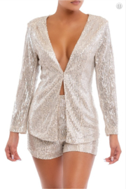 luxxel Sequin Short and Blazer Set - Product Mini Image