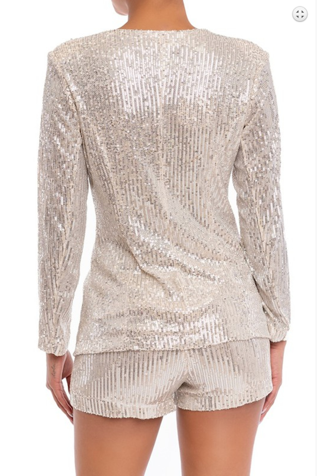 luxxel Sequin Short and Blazer Set - Front Full Image