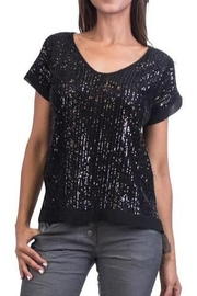GiGi Moda Sequin Short Sleeve Blouse - Product Mini Image