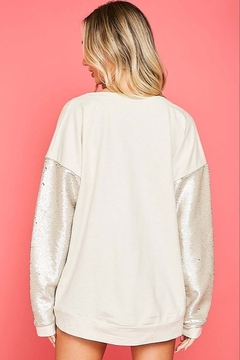 Fantastic Fawn  Sequin Sleeve Sweatshirt - Alternate List Image