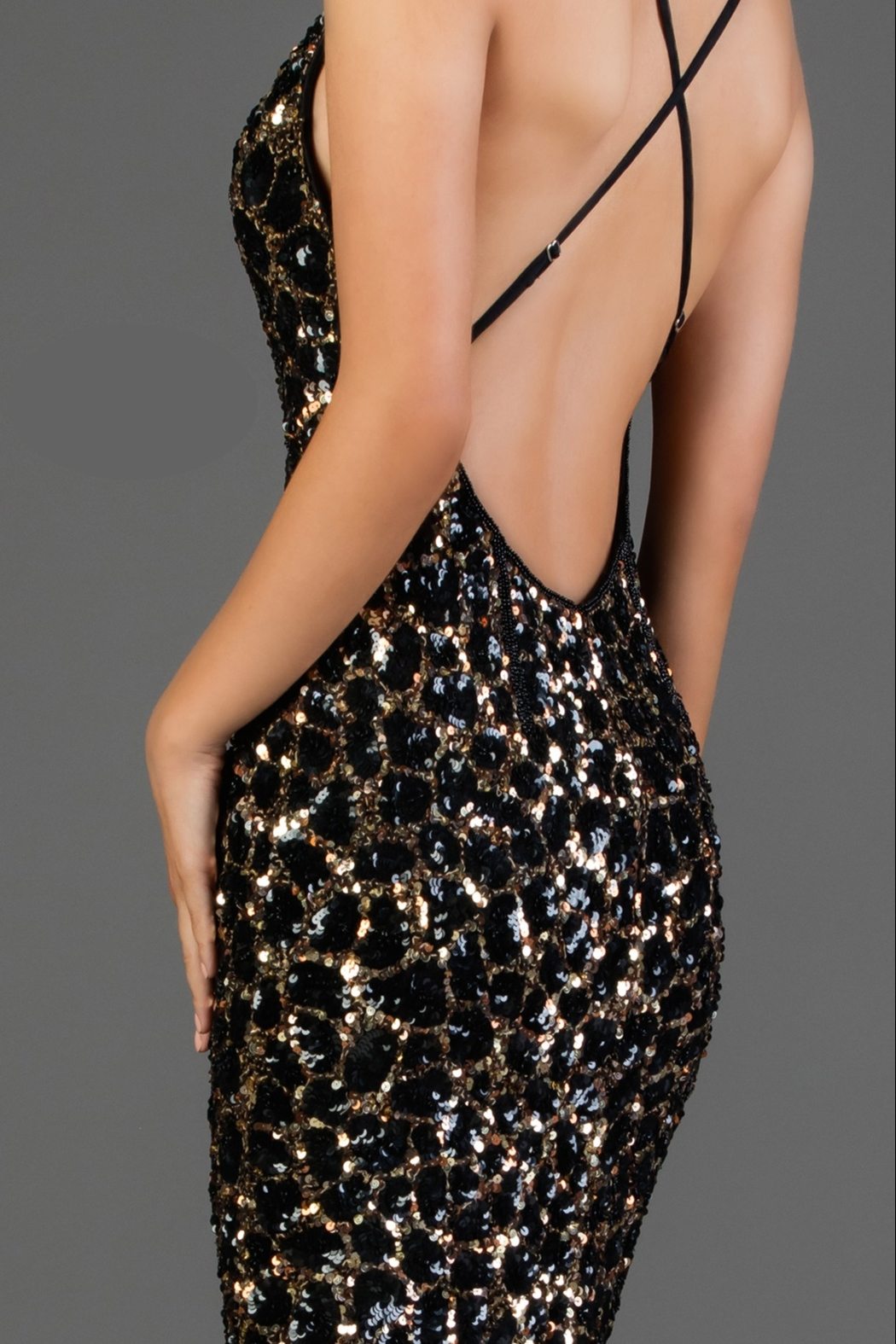 Scala Sequin Slip Dress - Front Full Image