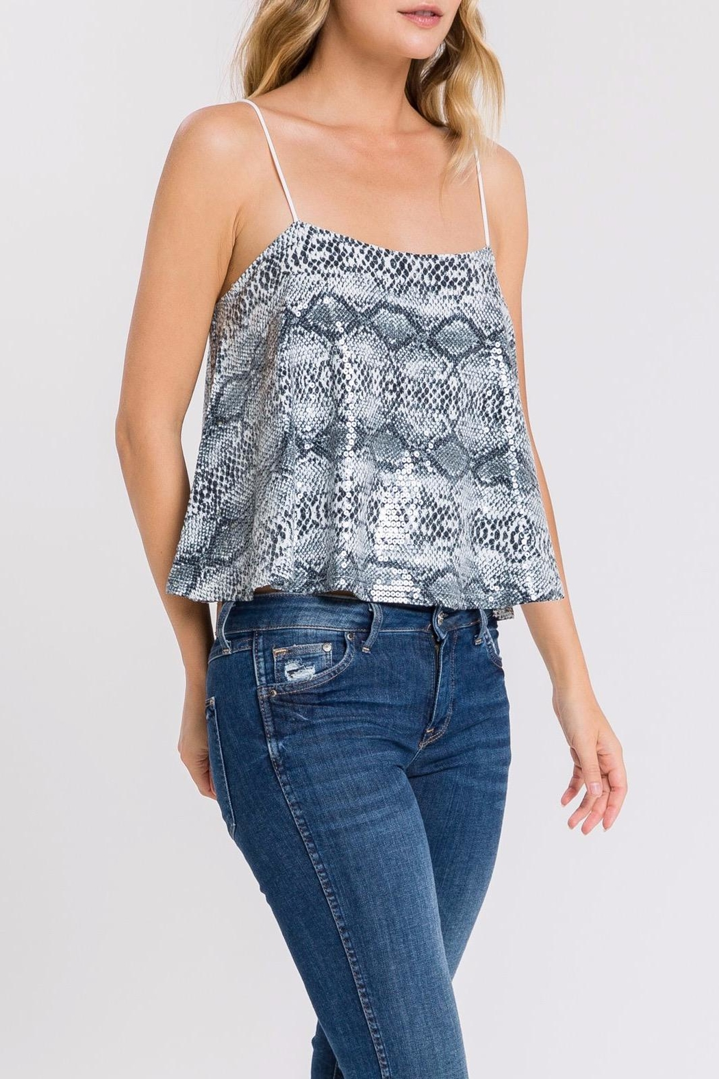 Endless Rose Sequin Snake-Print Cami - Side Cropped Image