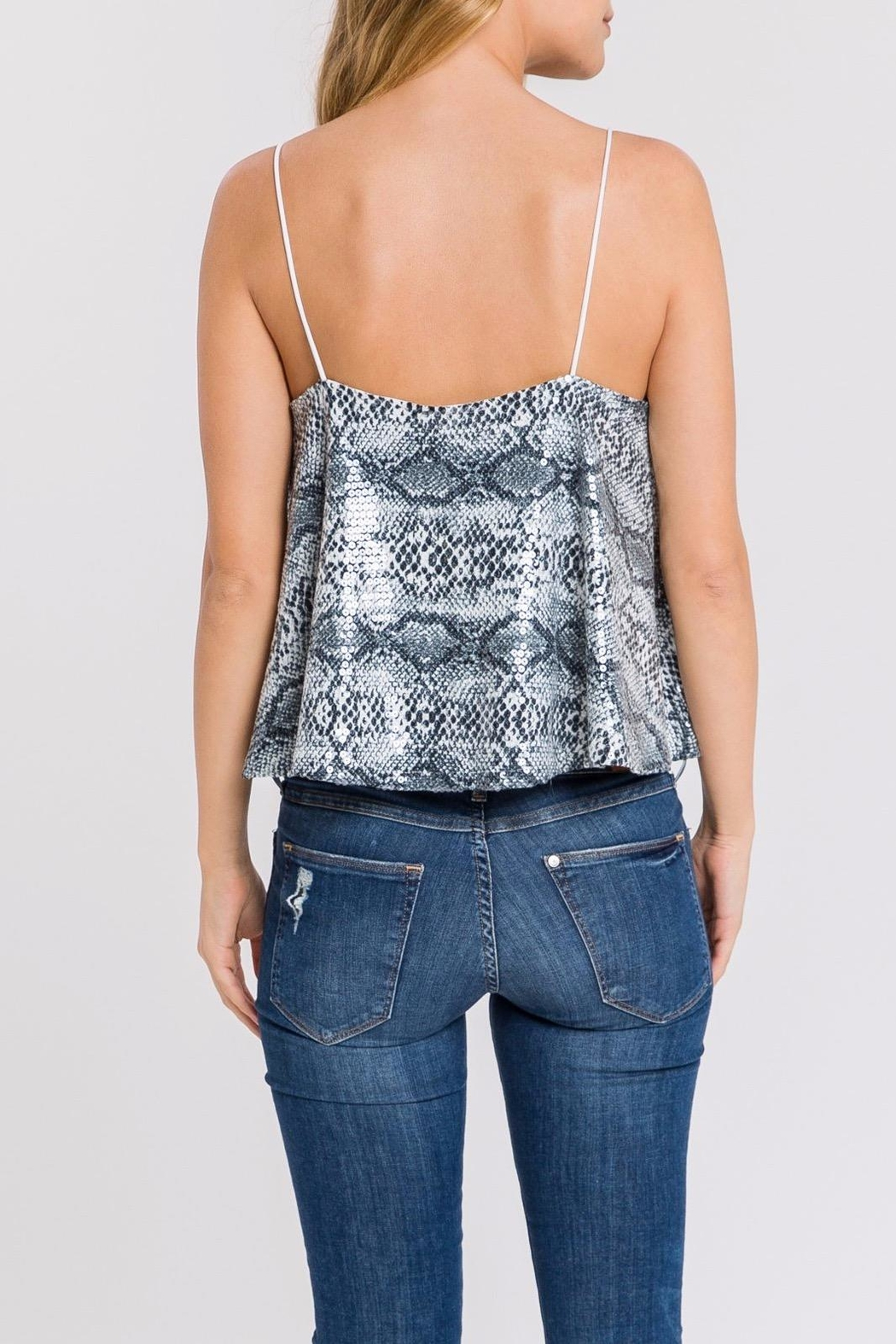 Endless Rose Sequin Snake-Print Cami - Back Cropped Image