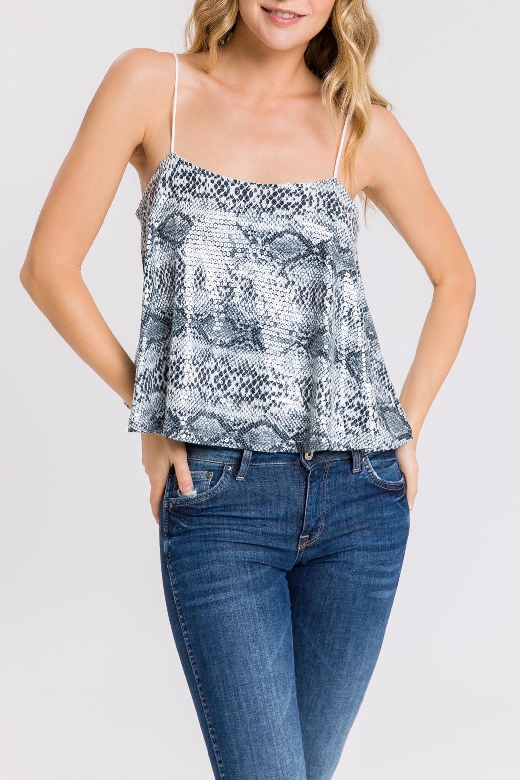 Endless Rose Sequin Snake-Print Cami - Front Full Image