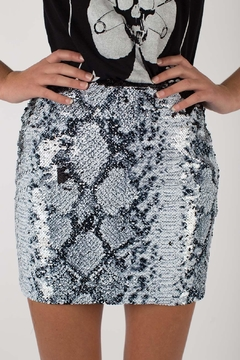 Any Old Iron Sequin Snakeskin Skirt - Product List Image