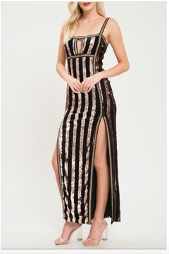 Latiste Sequin Striped Gown - Product List Image
