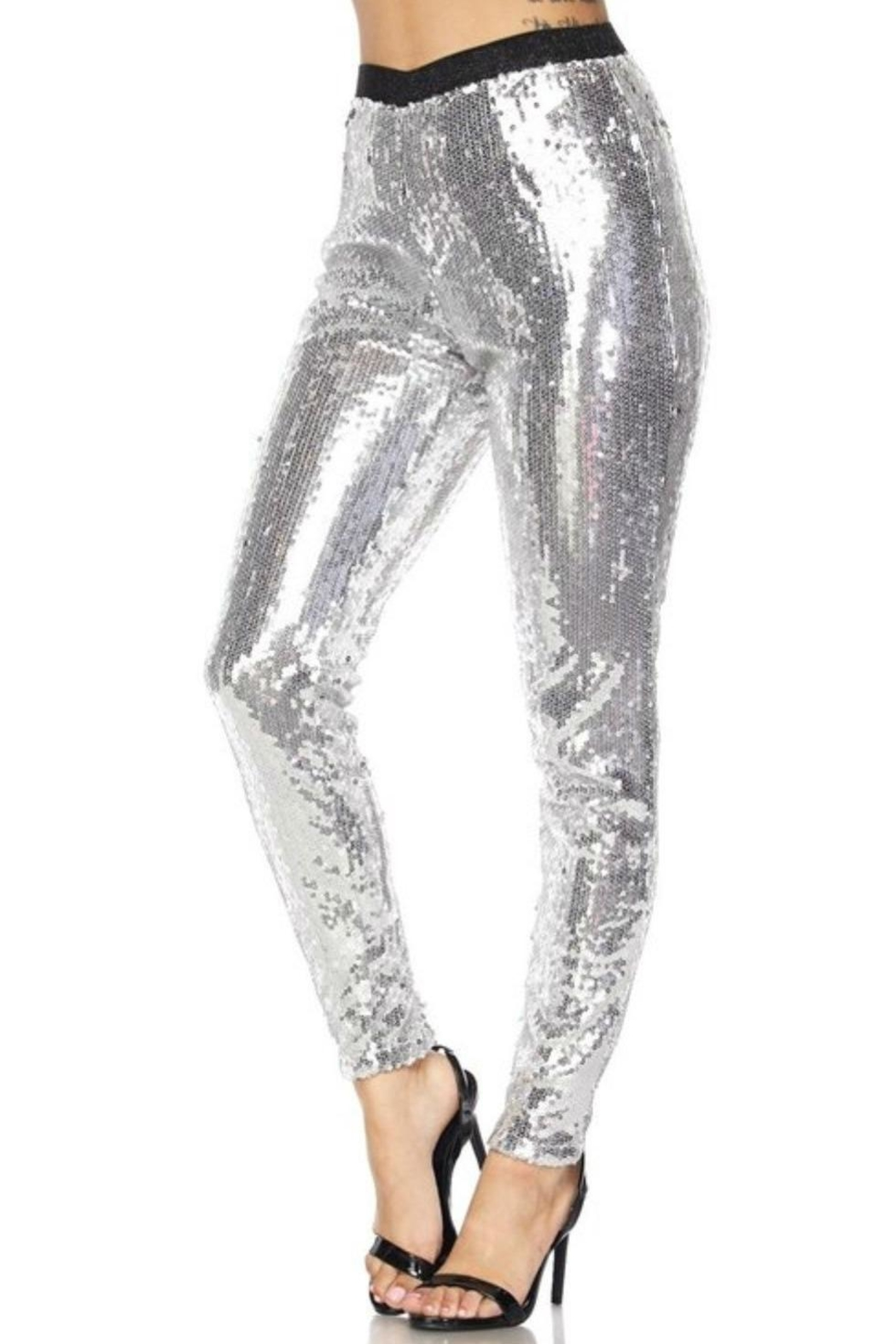 Hot & Delicious Sequin Tights - Front Full Image