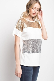 Sun & Moon Sequin Top - Product Mini Image