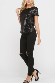 Rosette Sequin  Top - Product Mini Image