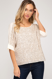 She + Sky Sequin Top - Front cropped