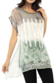 Adore Sequin Trimmed Silky Top - Product Mini Image