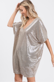 Upmost Sequin Tunic Dress - Front full body