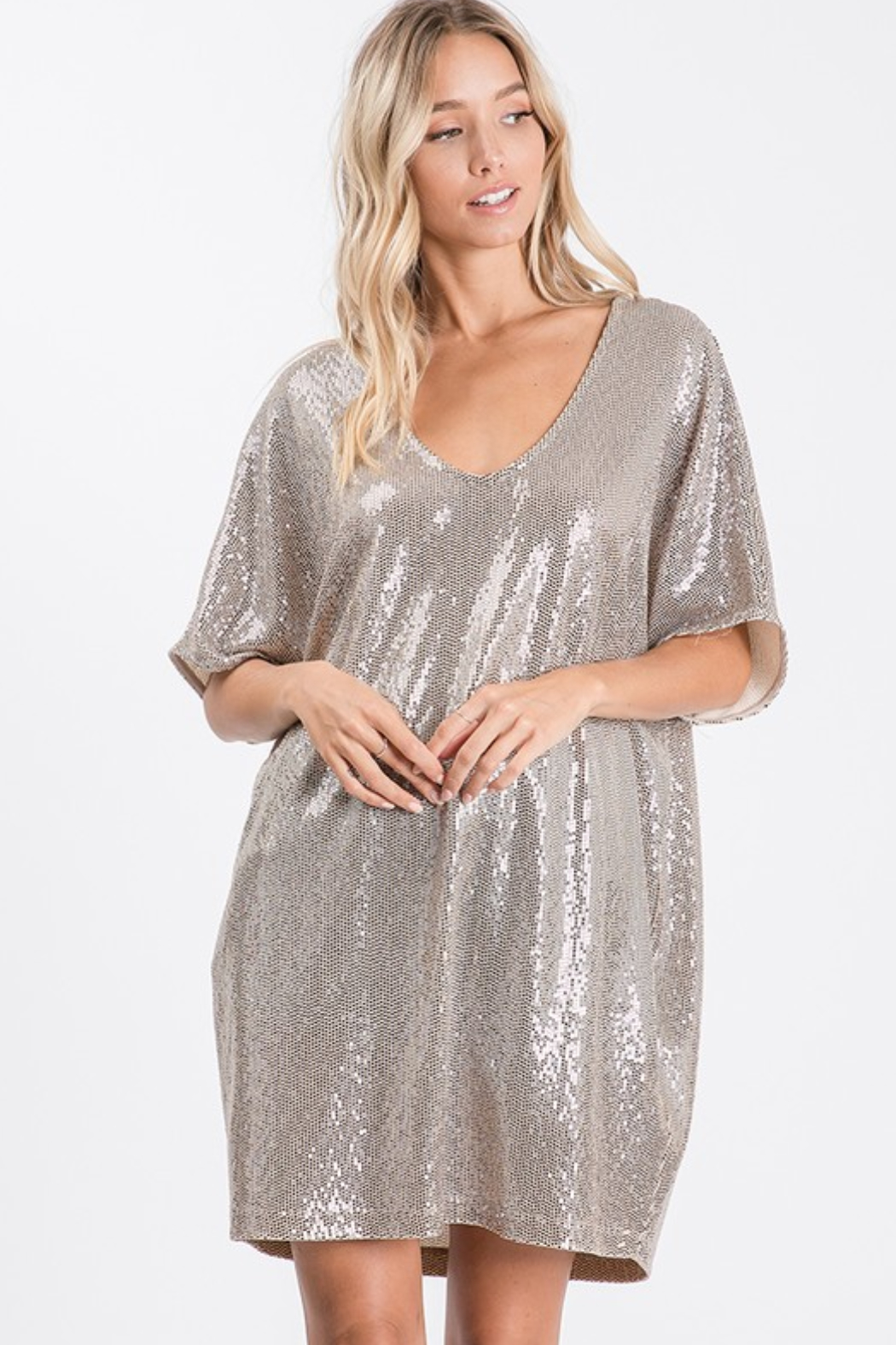 Upmost Sequin Tunic Dress - Main Image