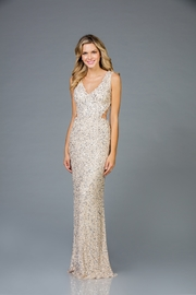 Scala Sequin V-Neck Gown - Product Mini Image