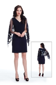 Alberto Makali Sequin Winged Dress - Product Mini Image