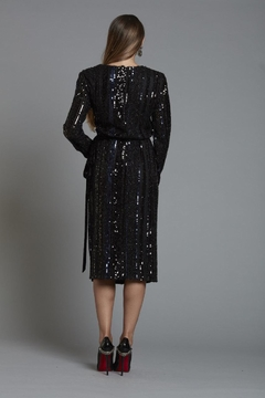 Alberto Makali Sequin Wrap Dress - Alternate List Image