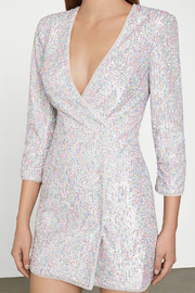 BCBG MAXAZRIA Sequin Wrap Dress - Side cropped