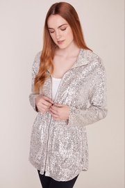 BB Dakota Sequin Zip Up Jacket - Front full body
